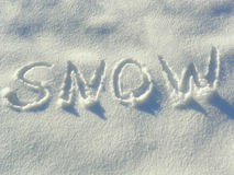 Letters in the snow Stock Images