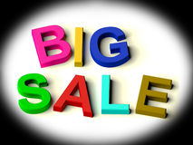 Letters Spelling Big Sale As Symbol for Discounts Stock Images