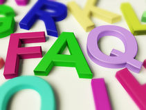 Letters Spelling FAQ As Symbol for Answers Stock Photo