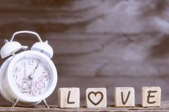 Letters spelling love Stock Photography