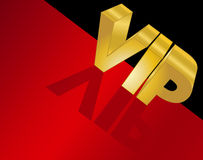 Letters Spelling VIP on the red carpet Royalty Free Stock Photo