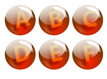 Letters spheres Royalty Free Stock Photography