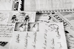 Letters and stamps Stock Images