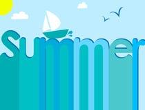 Letters summer sailfish Stock Image