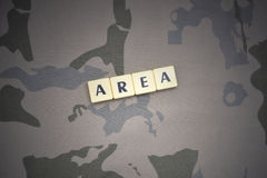 Letters with text area on the khaki background. military concept Royalty Free Stock Images