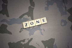 Letters with text zone on the khaki background. military concept royalty free stock photos