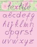 Letters, textil Stock Images