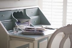 Letters Tied Up On Writing Desk Royalty Free Stock Image