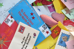 Letters to Santa Claus Stock Photo