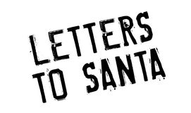Letters To Santa rubber stamp Stock Images
