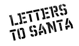 Letters To Santa rubber stamp Stock Photography