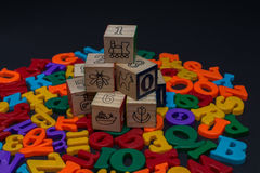 Letters of toy alphabet Stock Photography
