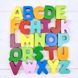 letters trä Arkivfoto
