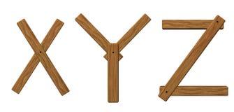 letters träxyz vektor illustrationer