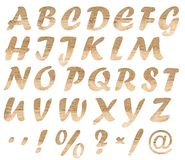 letters tr? arkivbild