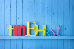 Letters Type Background Stock Photo