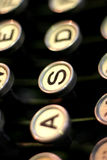 Letters on typewriter Royalty Free Stock Image