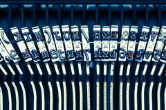 Letters on a typewriter Stock Images
