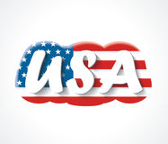 Letters USA. Letters overAmerican flag. Stock Images