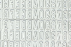 Letters used for a stamp. A close-up of several letters used for a stamp Royalty Free Stock Photography