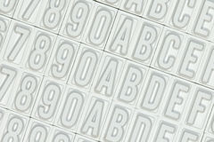Letters used for a stamp Stock Images