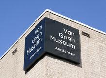 Letters van Gogh museum on a wall Royalty Free Stock Photography