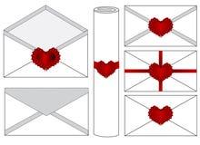 Letters. Vector set of wax sealed envelopes stock illustration