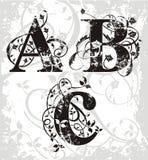 letters vektorn Arkivbilder