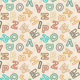 Letters in vintage style - vector educational scho Royalty Free Stock Photography