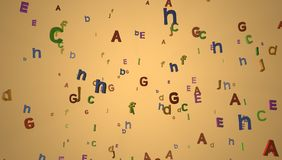 Letters wallpaper Royalty Free Stock Images