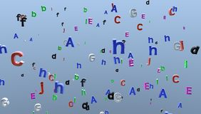 Letters wallpaper Stock Photo