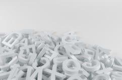 letters white Arkivbild