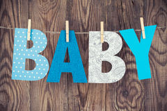 Letters of word baby Stock Photography