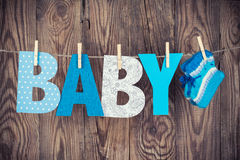 Letters of word baby Stock Image