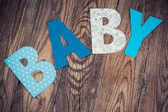 Letters of word baby Royalty Free Stock Images