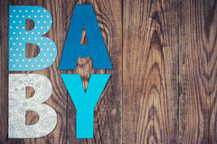 Letters of word baby Royalty Free Stock Photo