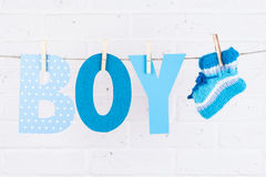 Letters of word boy Stock Photos