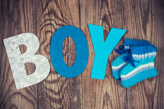 Letters of word boy Royalty Free Stock Images