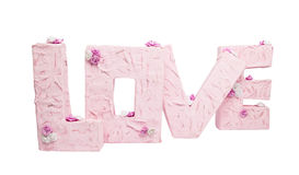The letters of the word Love Royalty Free Stock Photo