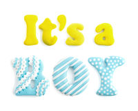 Letters word It`s a boy handicraft Stock Image