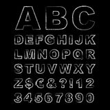 Letters Written in Chalk, Hand Drawn Chalk Alphabet. Vector Illustration Royalty Free Stock Image