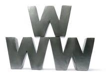 letters www Arkivfoton