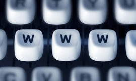 The letters WWW on the keys Royalty Free Stock Image