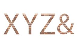 Letters XYZ in bricks Royalty Free Stock Photography