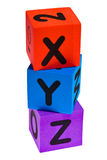 Letters X Y Z. Isolated on the white background Royalty Free Stock Photography