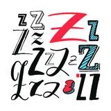 Letters Z Set Stock Photos