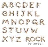 Letterset岩石 库存照片