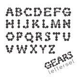Letterset GEARS Stock Images