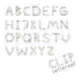 Letterset klamerka Ilustracji