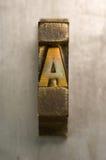 Letterzetsel A Stock Fotografie